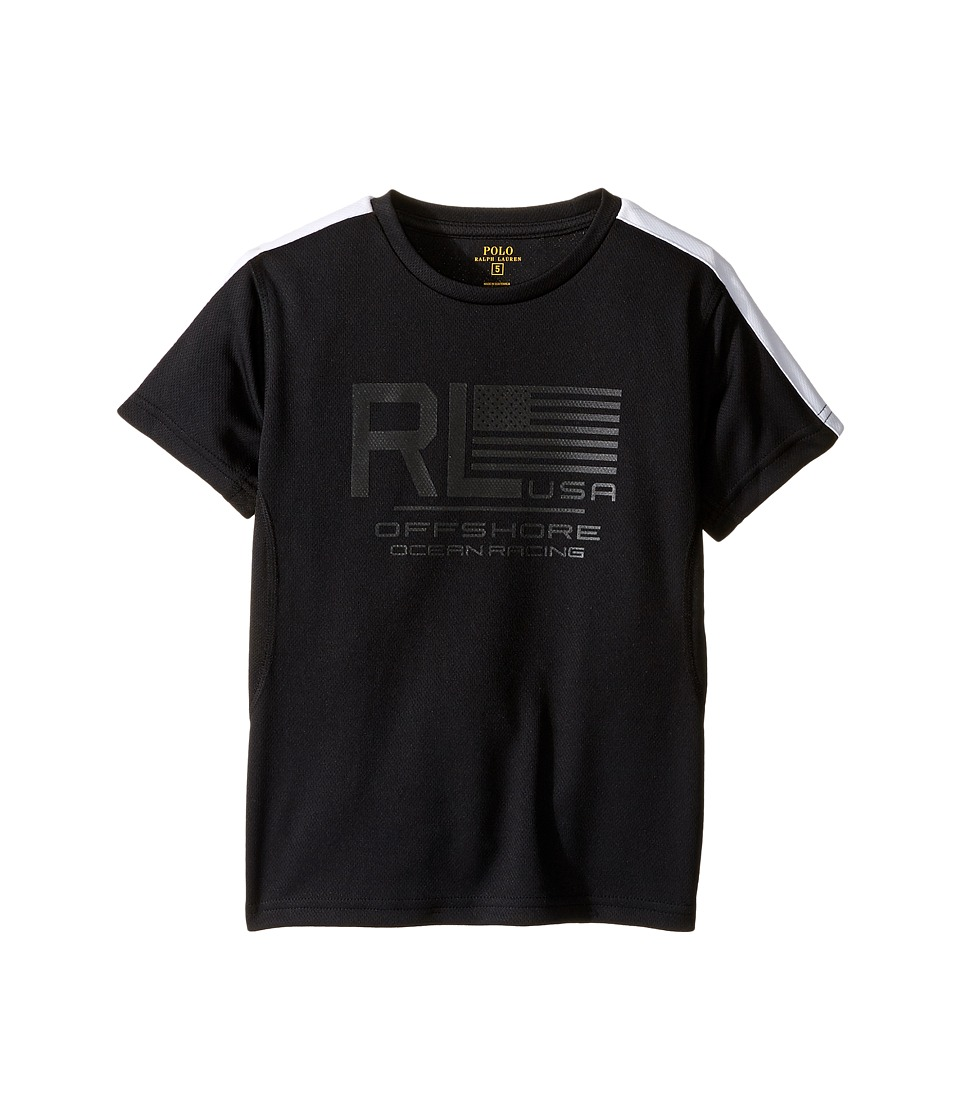 Polo Ralph Lauren Kids - Mesh Short Sleeve Crew Neck T-Shirt (Little Kids/Big Kids) (Polo Black) Boy's T Shirt
