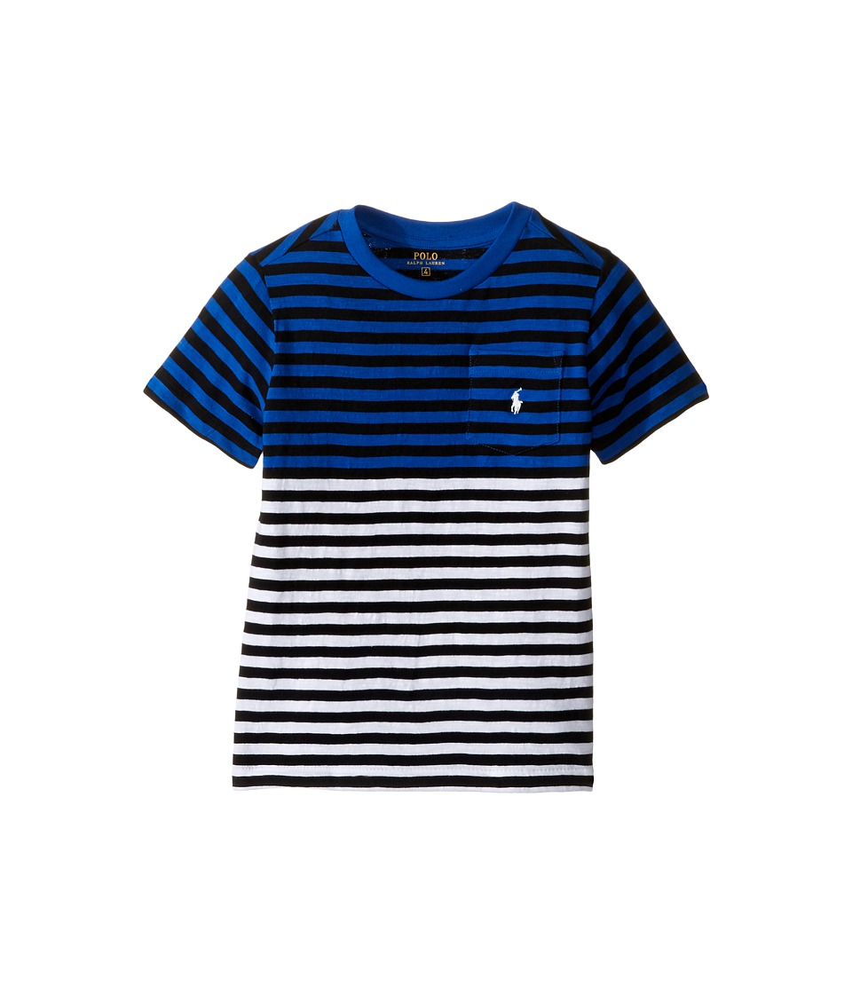 Polo Ralph Lauren Kids - Yarn-Dyed Slub Jersey Pocket Tee (Little Kids/Big Kids) (Marbella Blue Multi) Boy's T Shirt