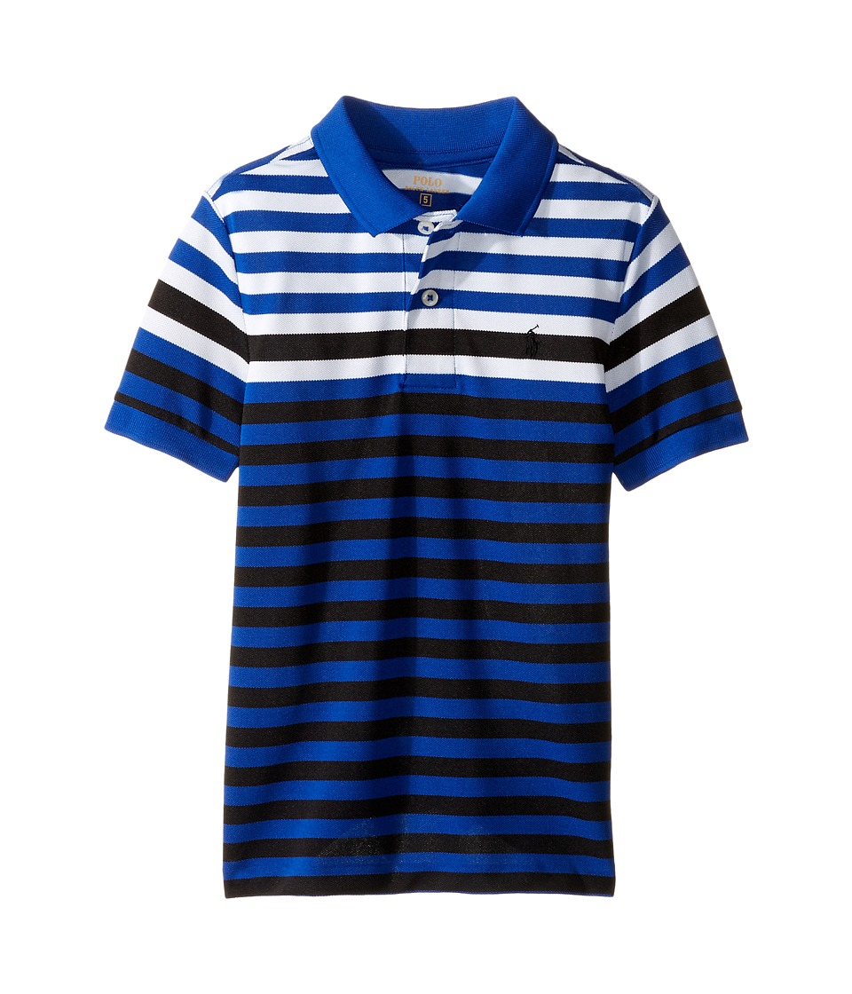Polo Ralph Lauren Kids - Yarn-Dyed Tech Mesh Short Sleeve Polo (Little Kids/Big Kids) (Marbella Blue Multi) Boy's Short Sleeve Pullover