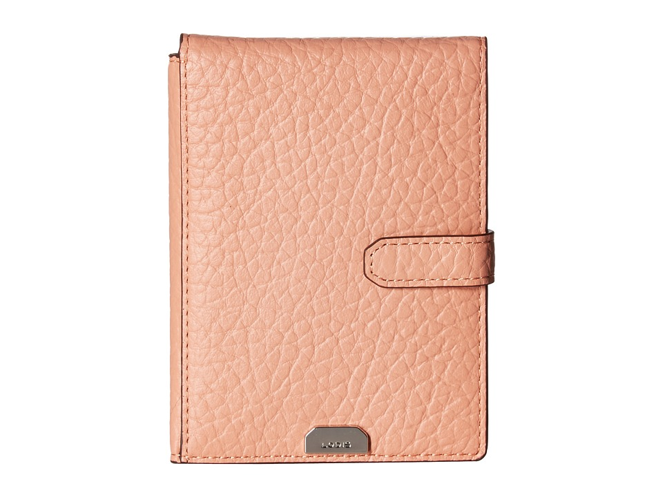 Lodis Accessories - Borrego RFID Under Lock Key Passport Wallet with Ticket Flap (Blush) Wallet Handbags