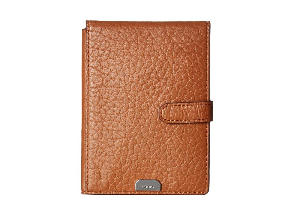 Lodis Accessories - Borrego RFID Under Lock Key Passport Wallet with Ticket Flap (Toffee) Wallet Handbags