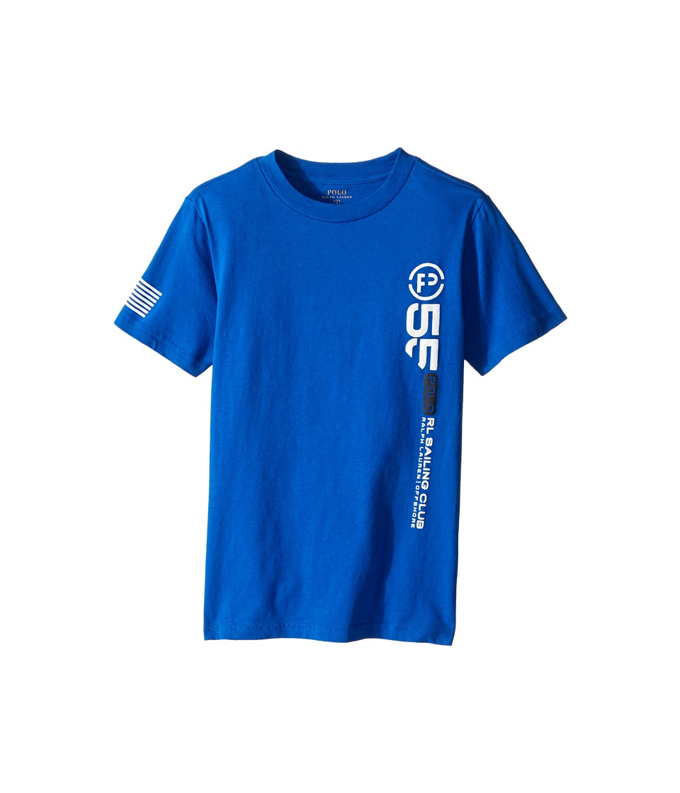 Polo Ralph Lauren Kids - 30/1 Jersey Graphic Tee (Little Kids/Big Kids) (Marbella Blue) Boy's T Shirt