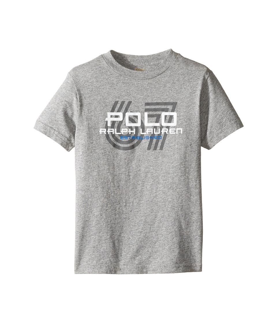 Polo Ralph Lauren Kids - 30/1 Jersey Graphic Tee (Little Kids/Big Kids) (Authentic Heather) Boy's T Shirt