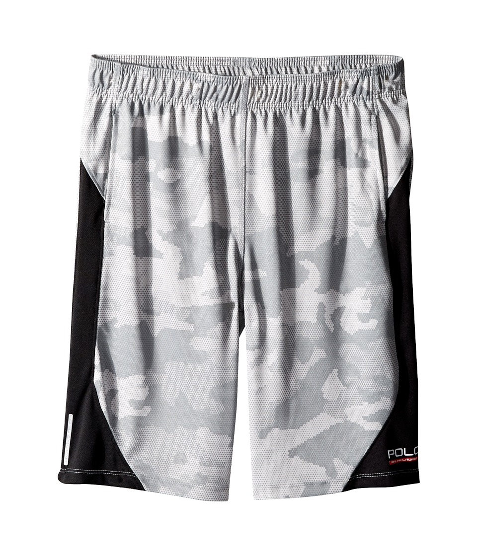 Polo Ralph Lauren Kids - Textured Poly Camo Shorts (Big Kids) (Grey Multi) Boy's Shorts
