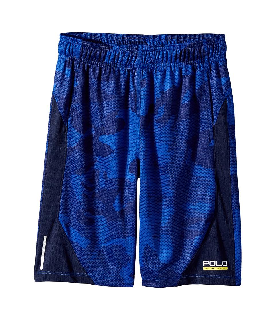 Polo Ralph Lauren Kids - Textured Poly Camo Shorts (Big Kids) (Blue Multi) Boy's Shorts