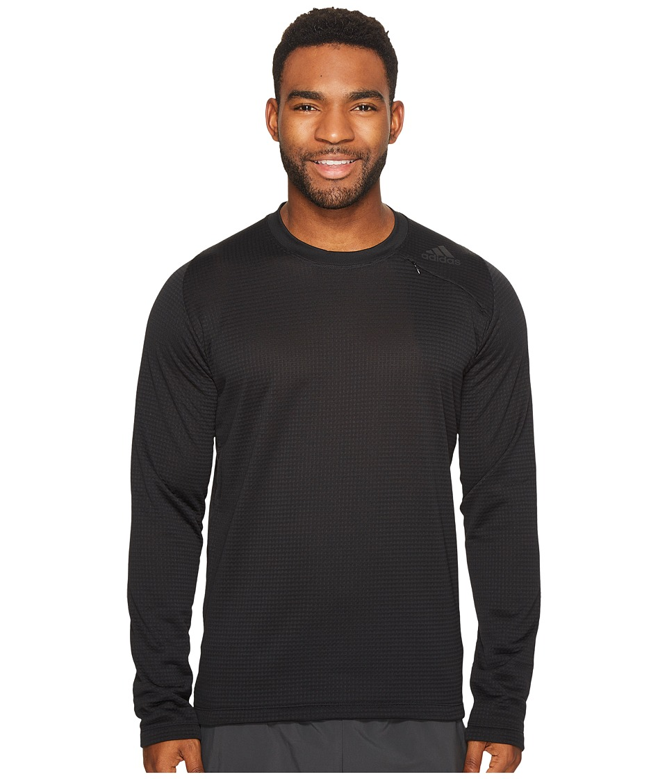 adidas - Athlete ID Long Sleeve Cover-Up (Black) Men's Long Sleeve Pullover