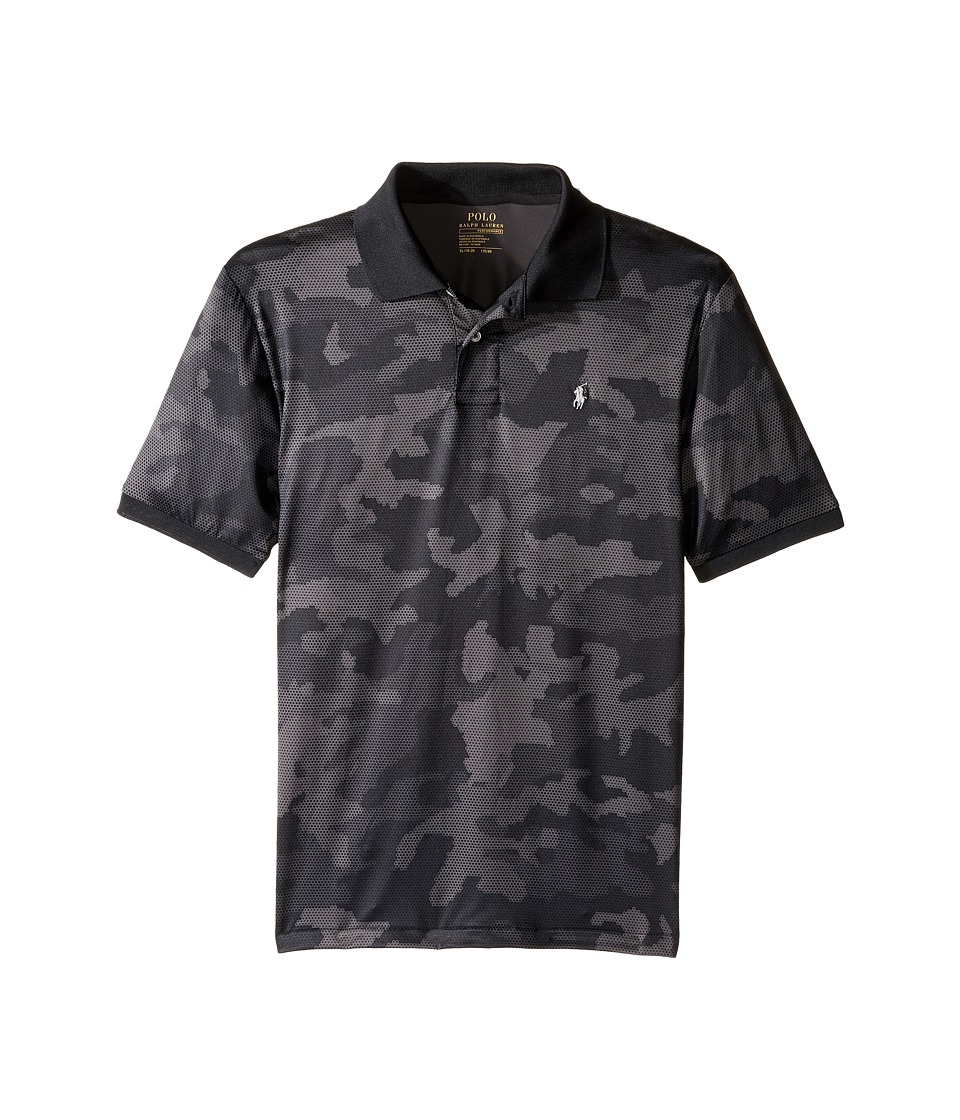 Polo Ralph Lauren Kids - Performance Lisle Short Sleeve Cut Sew Knit Top (Big Kids) (Grey Camo) Boy's Short Sleeve Pullover
