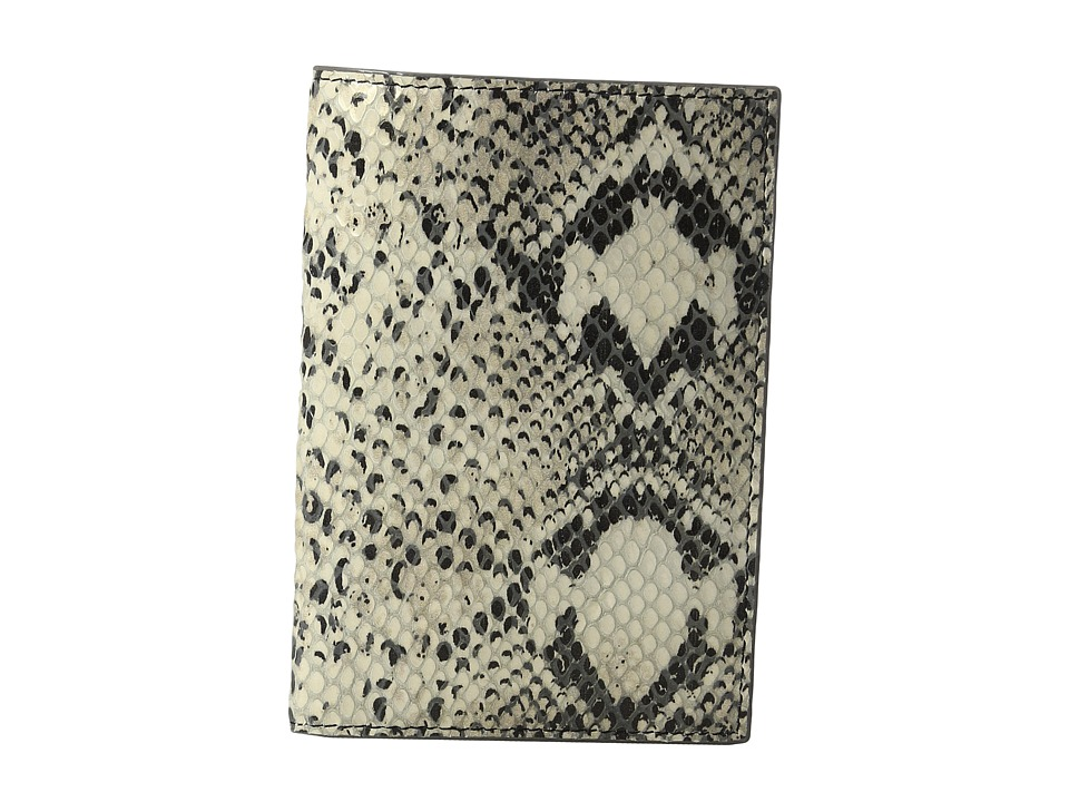 Lodis Accessories - Kate Exotic Passport Cover (Black/Taupe) Wallet