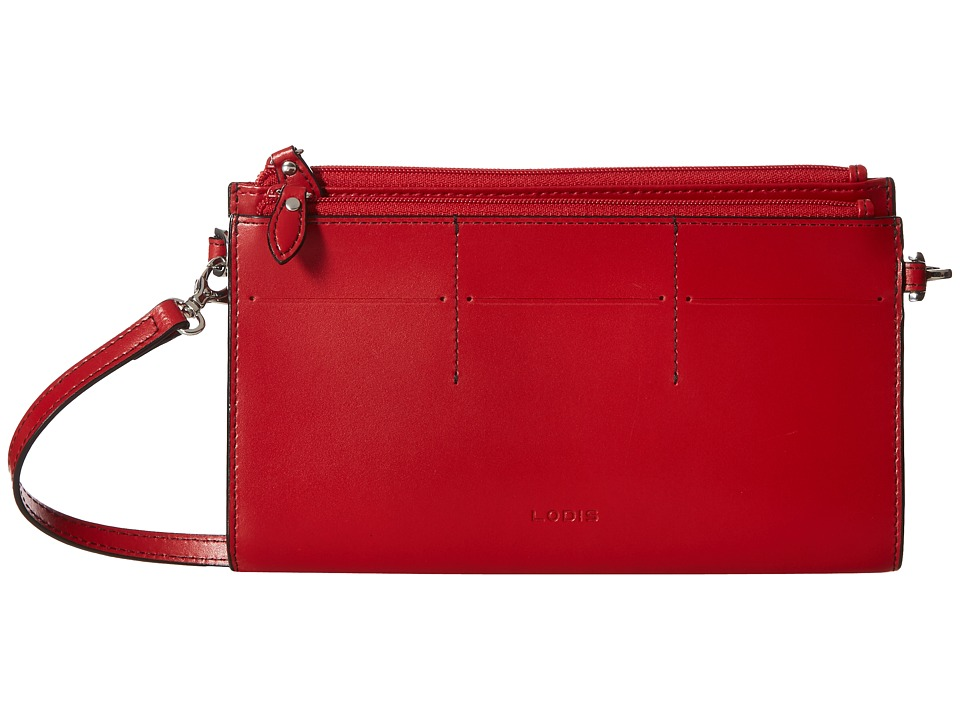 Lodis Accessories - Audrey Fairen Clutch Crossbody (Red/Black) Cross Body Handbags