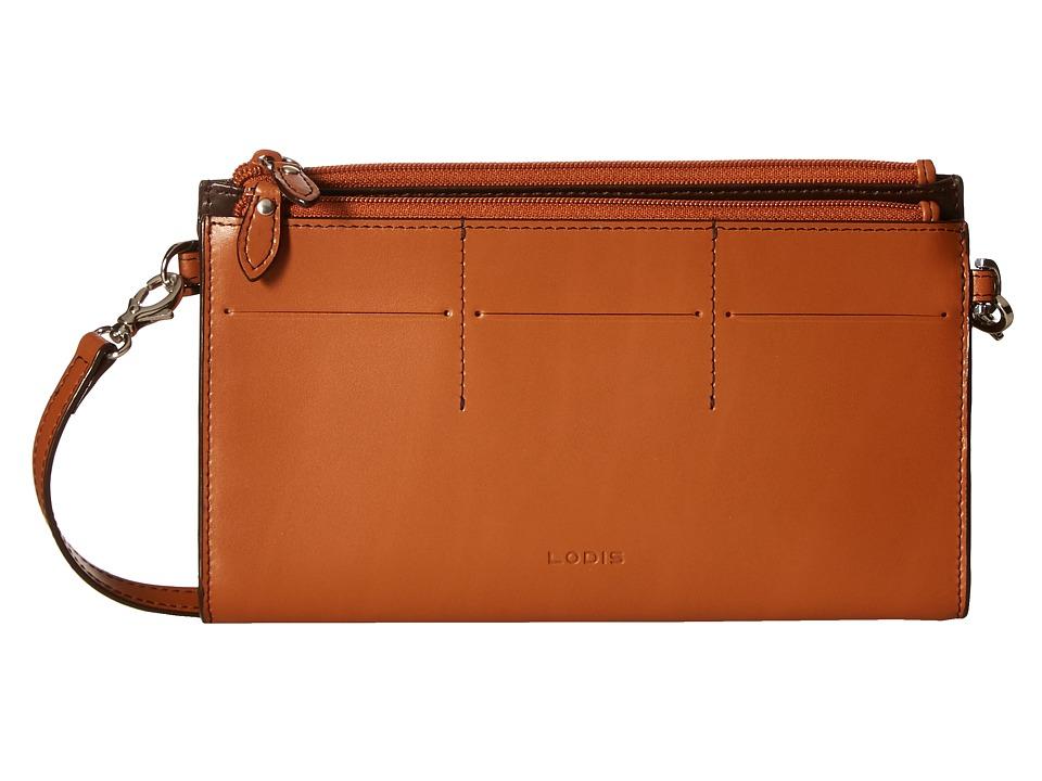 Lodis Accessories - Audrey Fairen Clutch Crossbody (Toffee) Cross Body Handbags