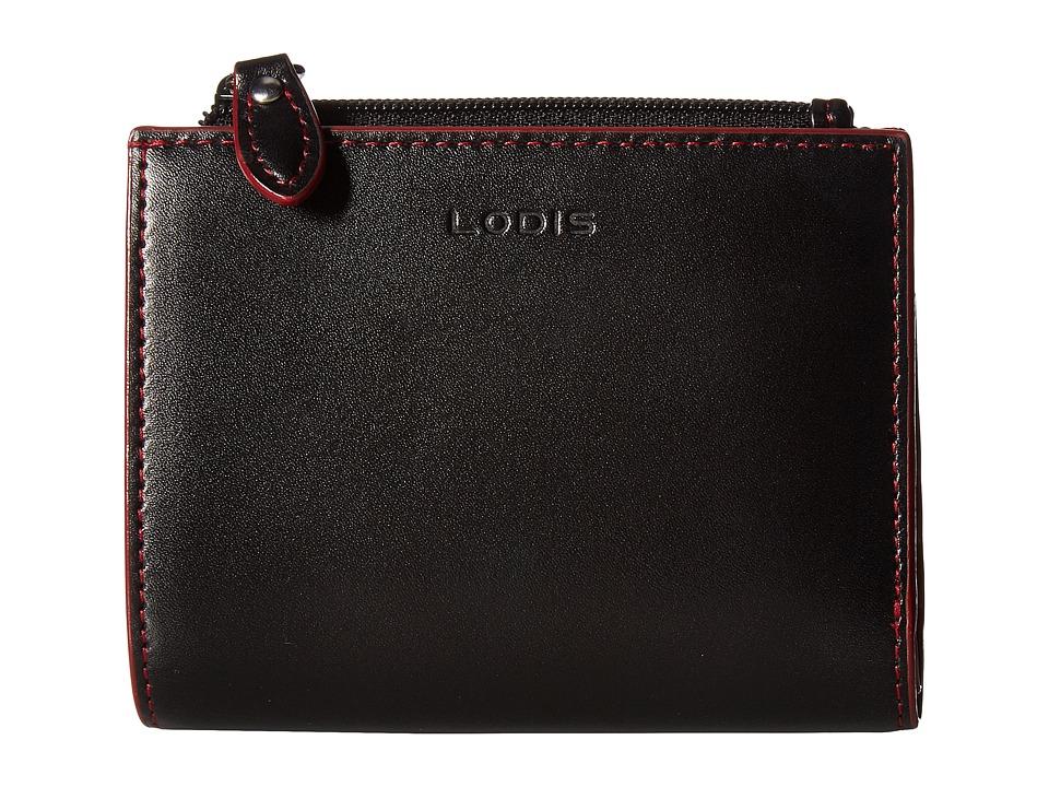 Lodis Accessories - Audrey Aldis Wallet (Black/Red) Wallet Handbags
