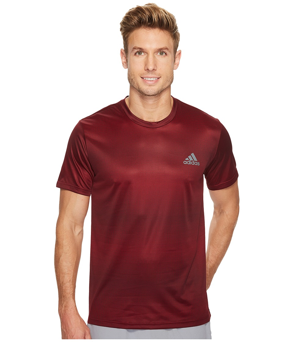 adidas - Essentials Tech Tee Future Stripe (Collegiate Burgundy) Men's T Shirt