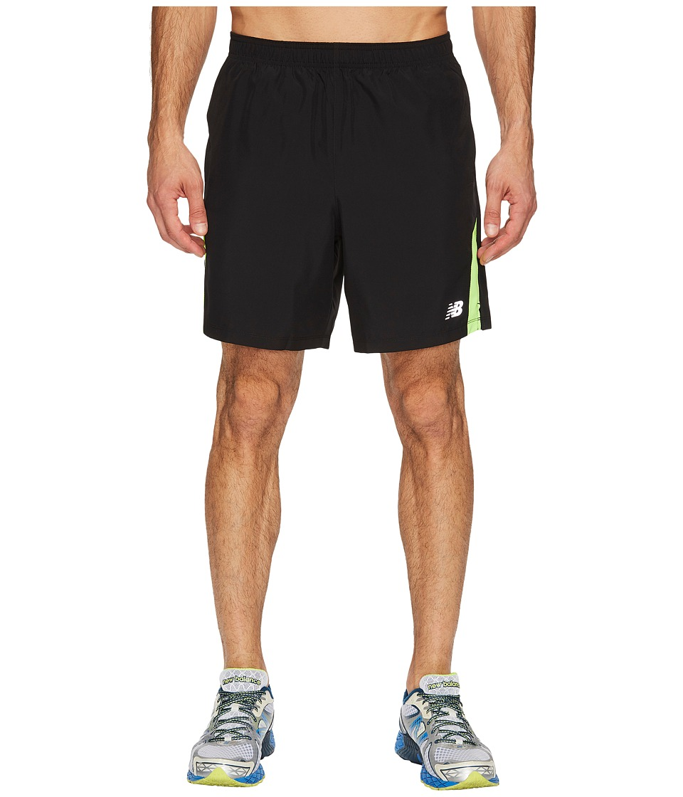 New Balance - Accelerate 7 Short w/ Brief (Black/Energy) Men's Shorts