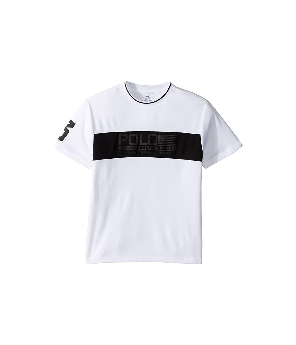 Polo Ralph Lauren Kids - Mesh Printed Crew Neck T-Shirt (Big Kids) (White) Boy's T Shirt