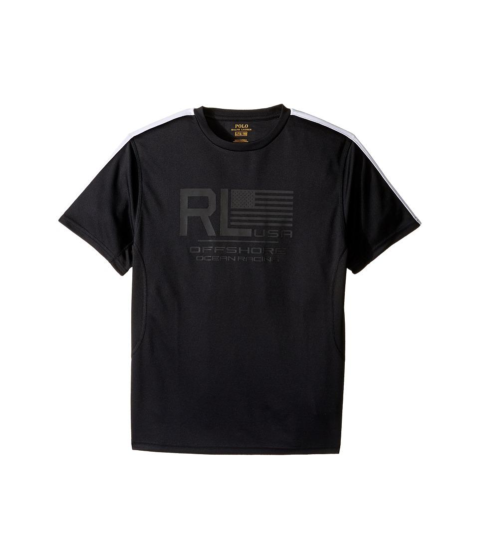 Polo Ralph Lauren Kids - Mesh Short Sleeve Crew Neck T-Shirt (Big Kids) (Polo Black) Boy's T Shirt