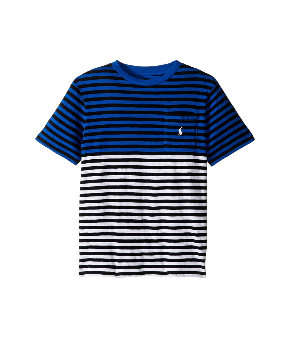 Polo Ralph Lauren Kids - Yarn-Dyed Slub Jersey Pocket Tee (Big Kids) (Marbella Blue Multi) Boy's T Shirt