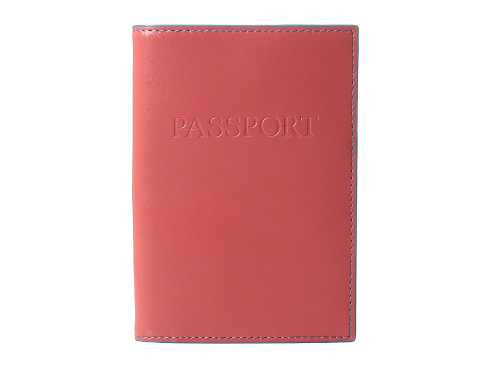 Lodis Accessories - Audrey Passport Cover (Coral/Turquoise) Wallet