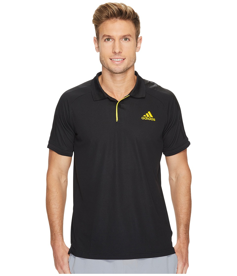 adidas - Barricade Polo (Black/Yellow) Men's Short Sleeve Pullover