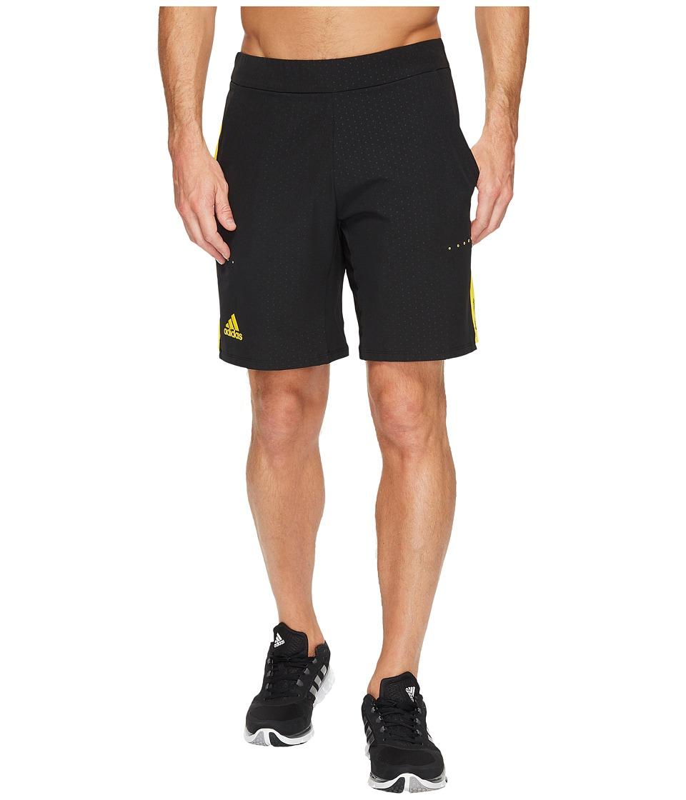 adidas - Barricade Bermuda Shorts (Black/Yellow) Men's Shorts