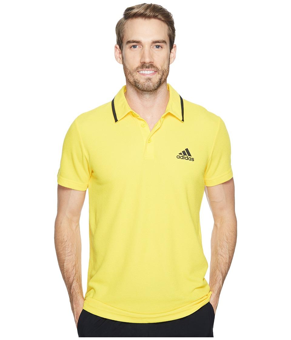 adidas - Essex Polo (EQT Yellow/Black) Men's Short Sleeve Pullover