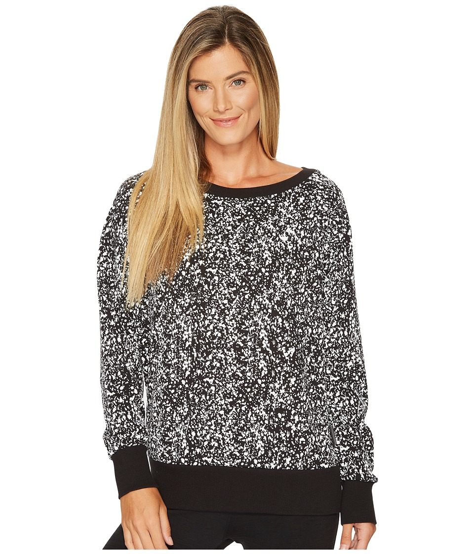 Reebok - Favorite Crew Neck - Speckled (White) Women's Long Sleeve Pullover