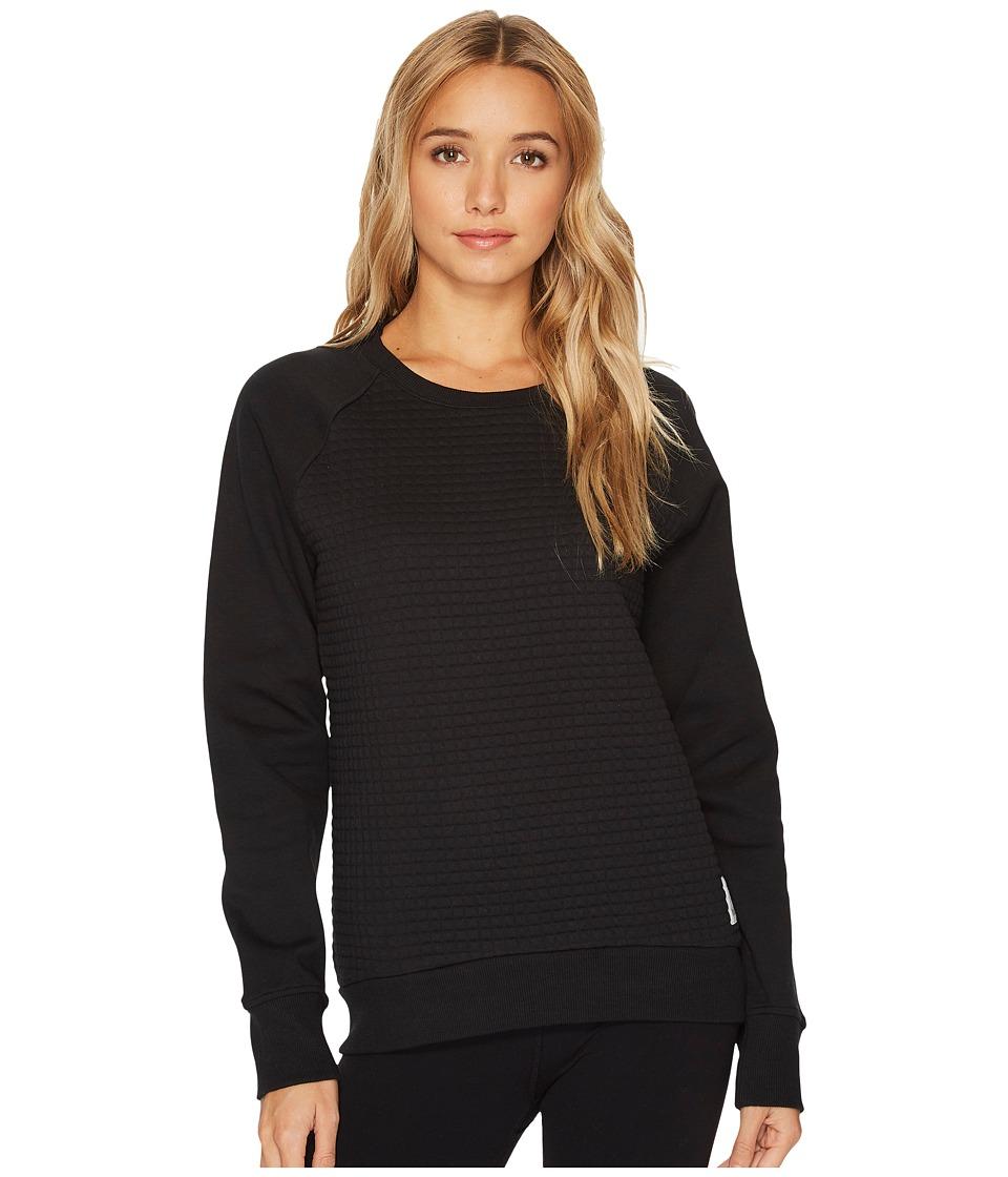 Reebok - Elements Quilted Crew (Black) Women's Sweatshirt