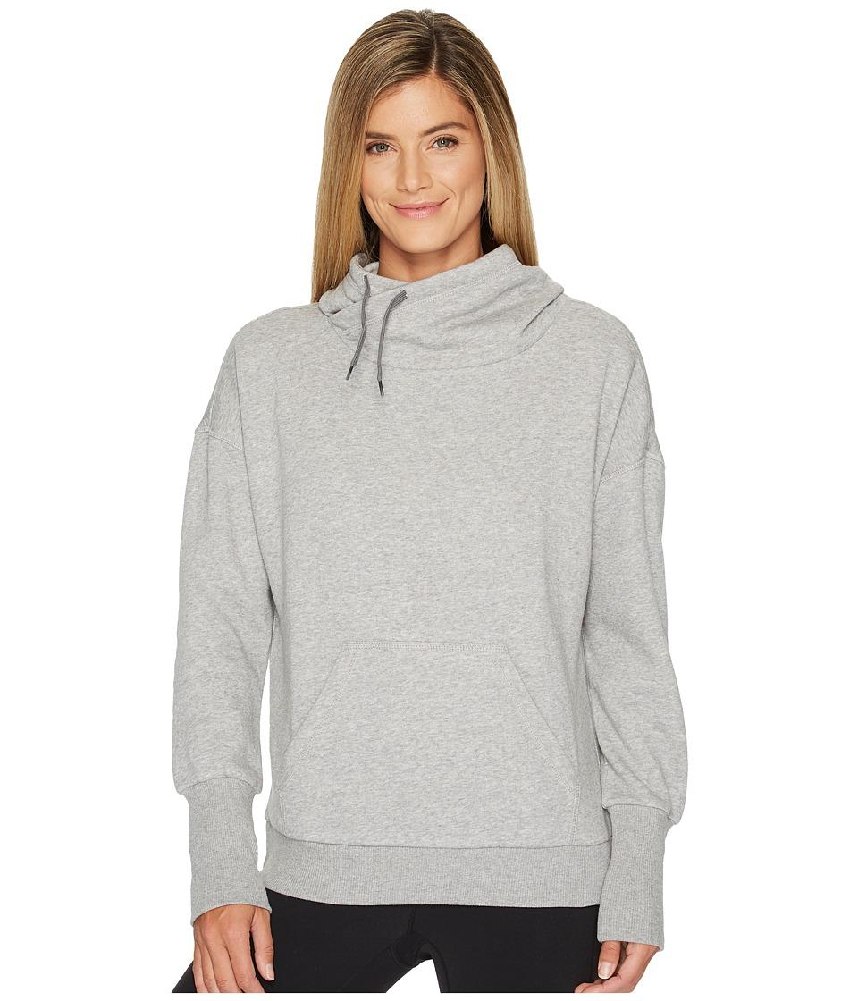 Reebok - Fleece Cowl Neck Sweatshirt (Medium Heather Grey) Women's Sweatshirt