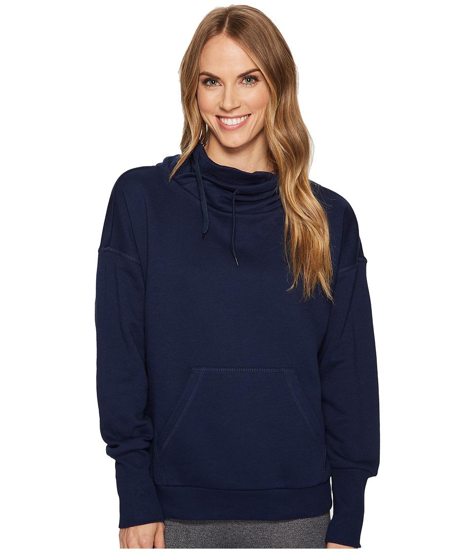 Reebok Fleece Cowl Neck Sweatshirt (Collegiate Navy) Women