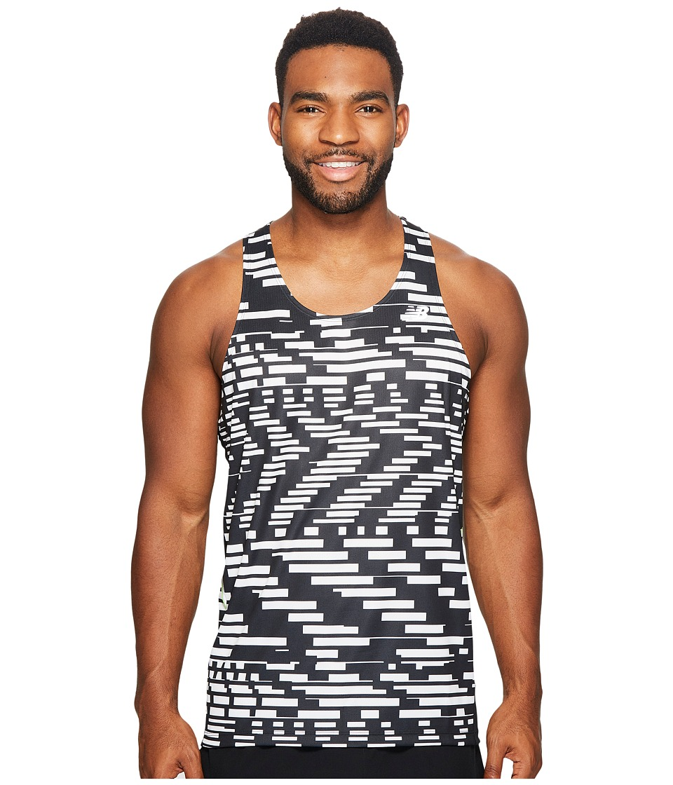 New Balance - Ice Singlet Print (Black/White) Men's Sleeveless