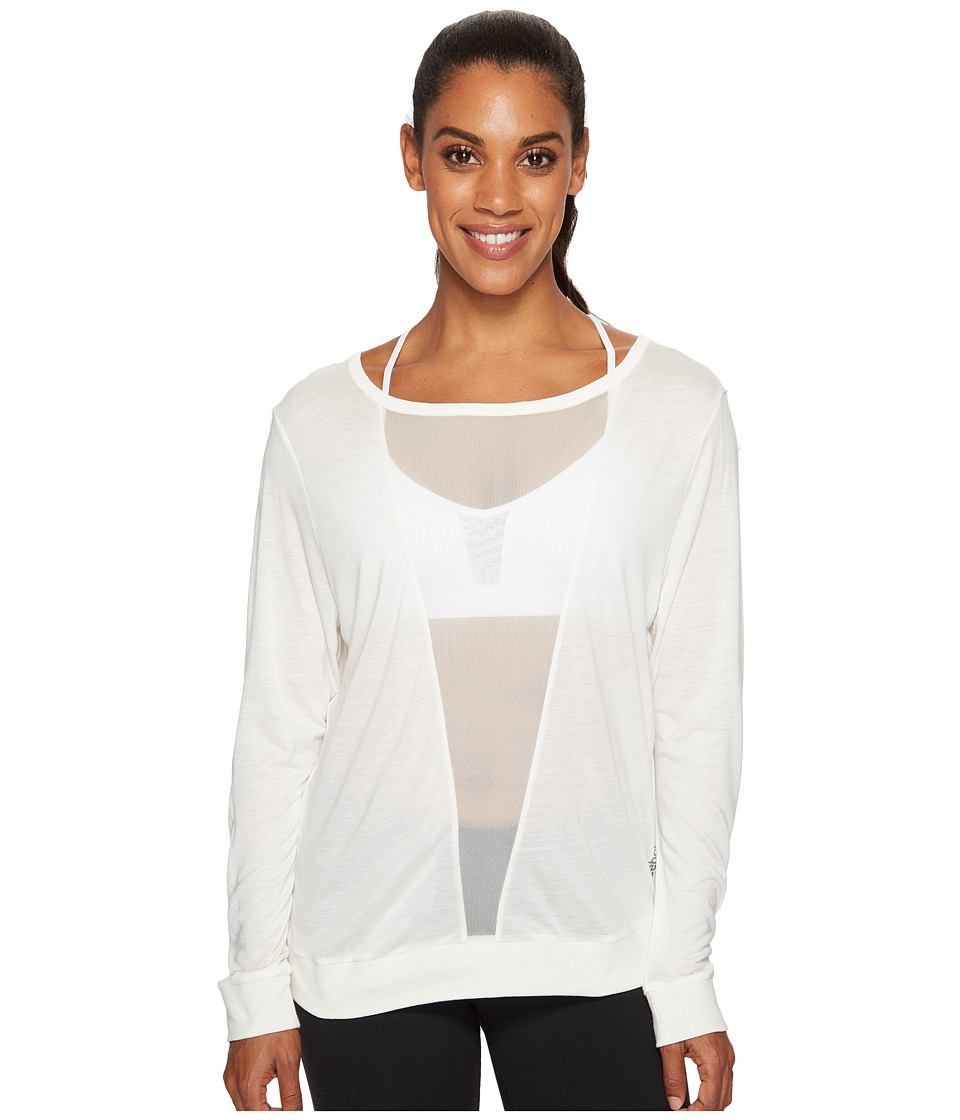 Reebok - Mesh Long Sleeve Tee (Chalk) Women's Long Sleeve Pullover