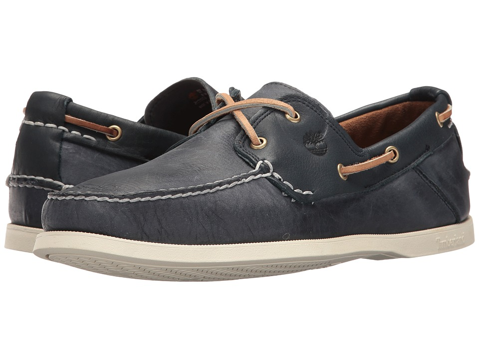 Timberland - Heritage CW Two-Eye Boat Shoe (Blue) Men's Shoes