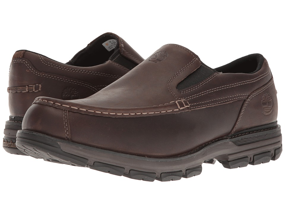 Timberland - Heston Slip-On Waterproof (Dark Brown) Men's Shoes