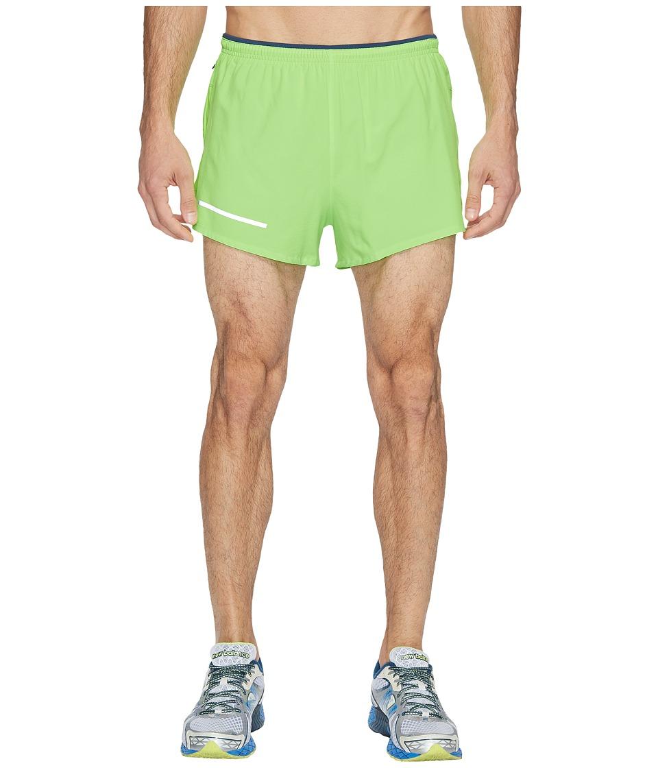 New Balance - Impact 3 Split Shorts (Energy Lime) Men's Shorts