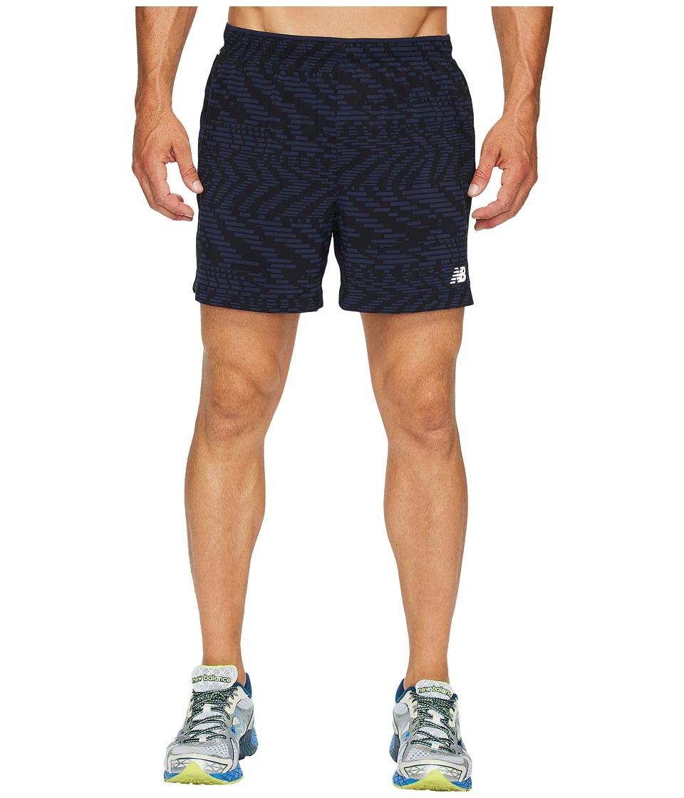 New Balance - Impact 5 Track Shorts Print (Pigment/Caviar) Men's Shorts