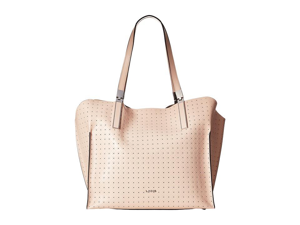 Lodis Accessories - Blair Perf Anita East/West Multi Functional Satchel (Blush/Taupe) Satchel Handbags