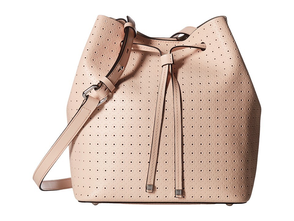 Lodis Accessories - Blair Perf Gail Medium Drawstring (Blush/Taupe) Drawstring Handbags