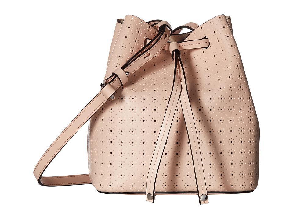 Lodis Accessories - Blair Perf Blake Small Drawstring (Blush/Taupe) Drawstring Handbags