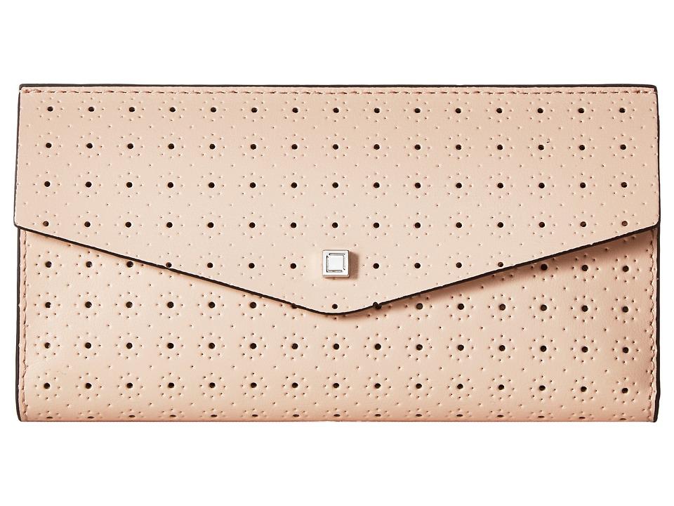 Lodis Accessories - Blair Perf Amanda Continental Clutch (Blush/Taupe) Clutch Handbags