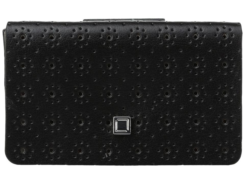 Lodis Accessories - Blair Perf Mini Card Case (Black/Taupe) Credit card Wallet