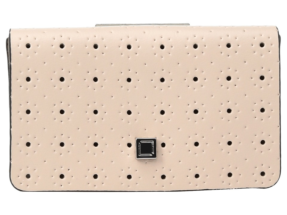 Lodis Accessories - Blair Perf Mini Card Case (Blush/Taupe) Credit card Wallet