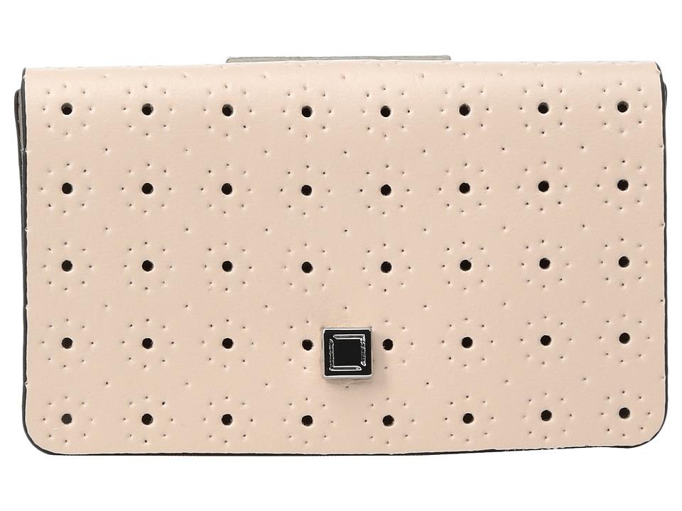 Lodis Accessories - Blair Perf Mini Card Case (Blush/Taupe) Credit card Wallet