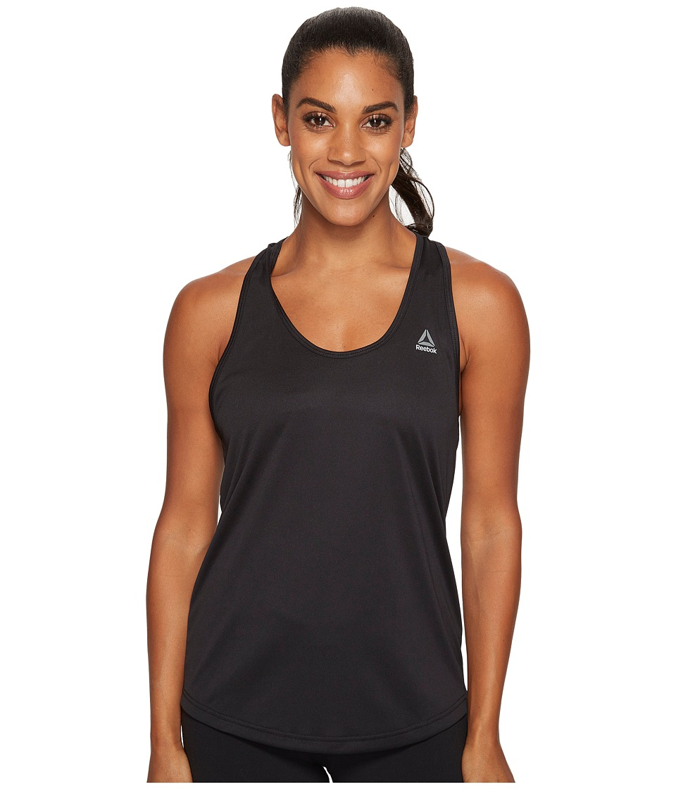 Reebok - Mesh Back Tank (Black) Women's Workout