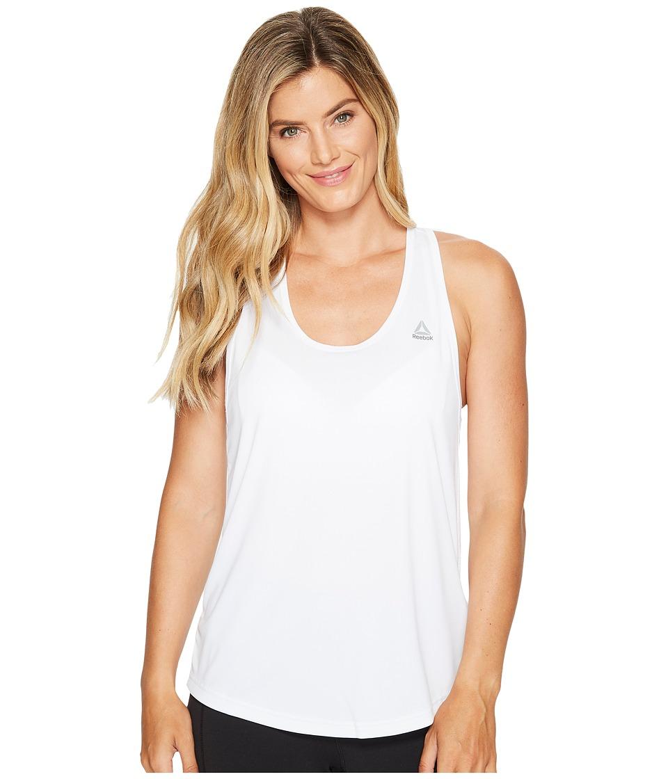Reebok - Mesh Back Tank (White) Women's Workout