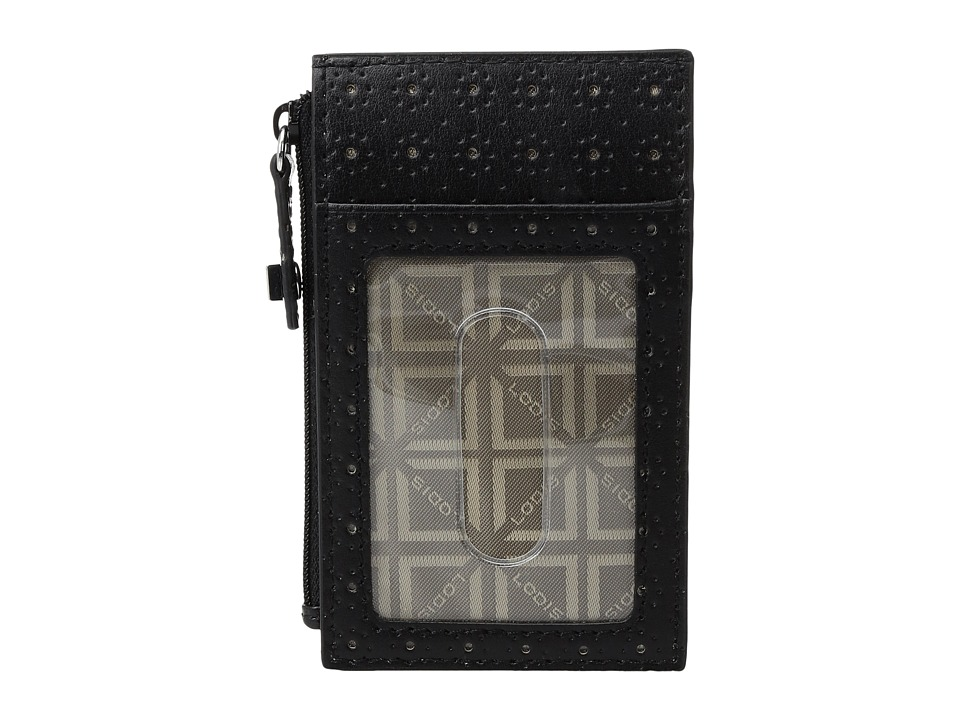 Lodis Accessories - Blair Perf Ina Card Case (Black/Taupe) Credit card Wallet