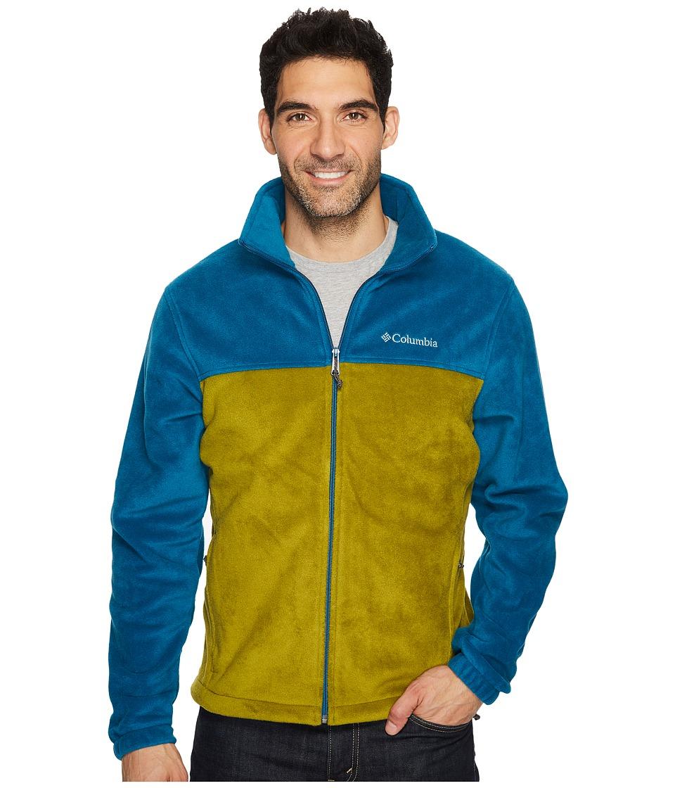Columbia - Steens Mountain Full Zip 2.0 (Phoenix Blue/Mossy Green) Men's Coat