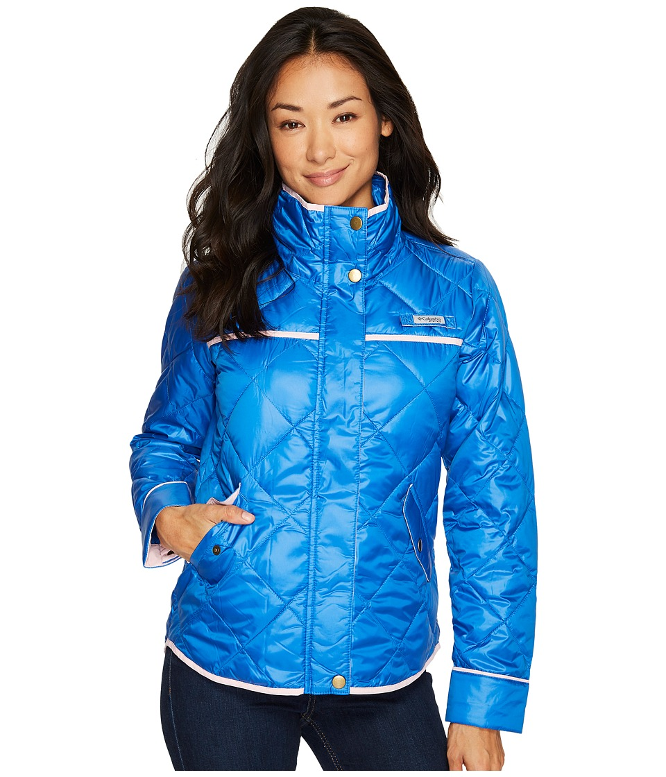 Columbia Harborside Diamond Quilted Jacket (Vivid Blue/Cherry Blossom) Women