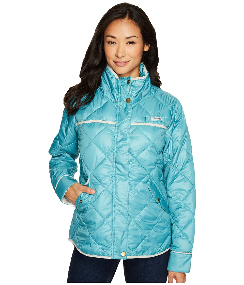 Columbia Harborside Diamond Quilted Jacket (Teal/Light Cloud) Women