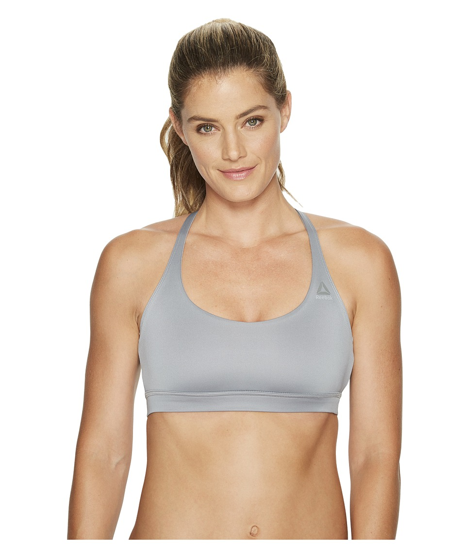 Reebok Speedwick Triangle Back Bra (Flint Grey) Women