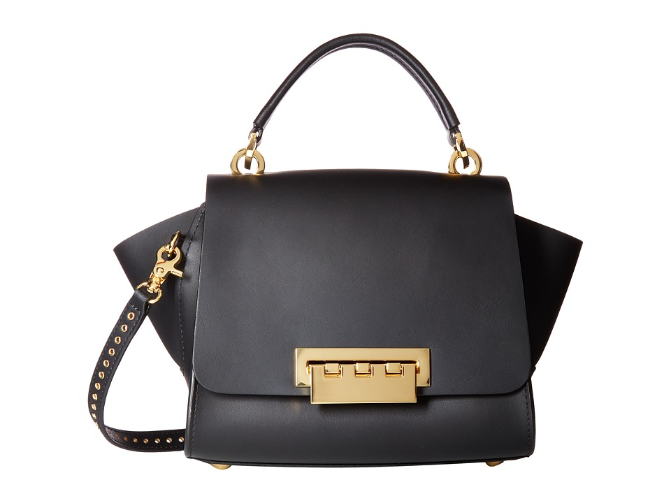 ZAC Zac Posen - Eartha Iconic Mini Crossbody - Solid w/ Micro Grommet Strap (Black) Cross Body Handbags