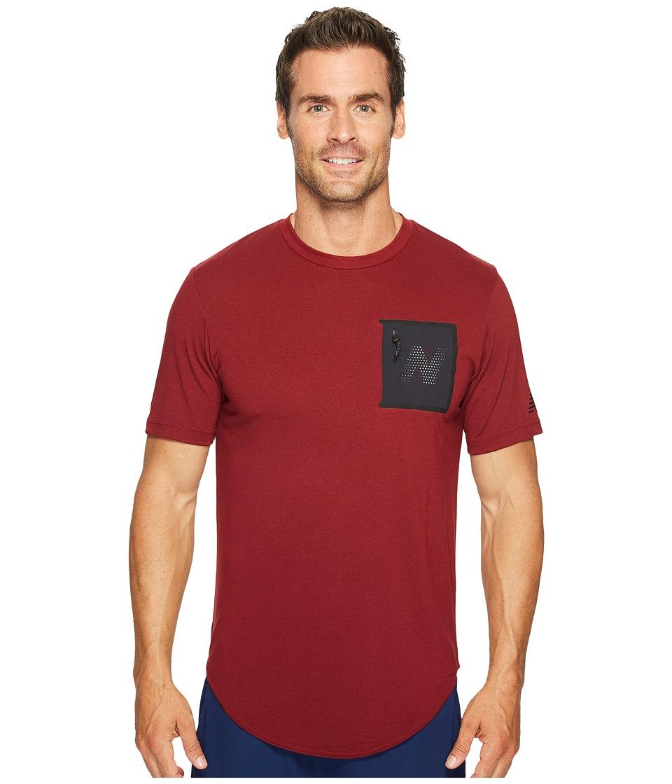 New Balance 247 Sport Pocket Tee (Mercury Red) Men